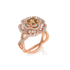 Desert Rose Chocolate Diamond Ring