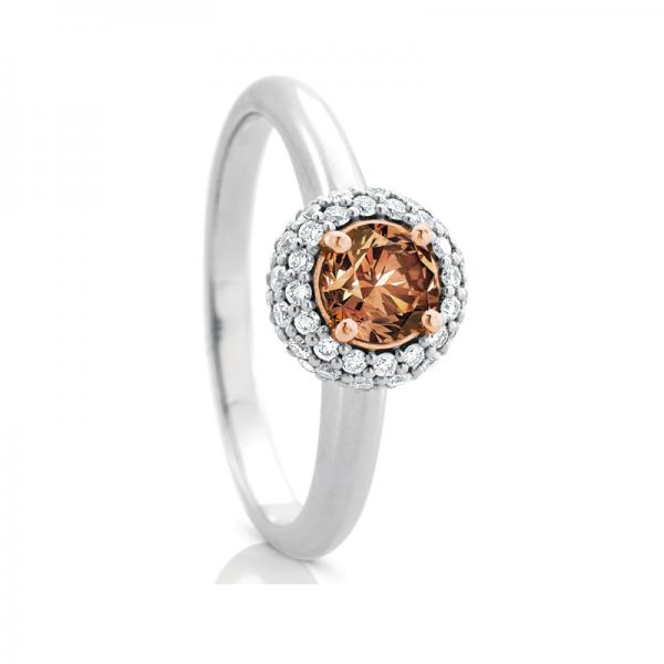 Chocolate Bubble Diamond Ring