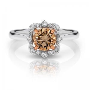 Crown Chocolate Diamond Ring