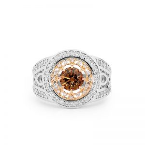 Deco Delight Chocolate Diamond Ring