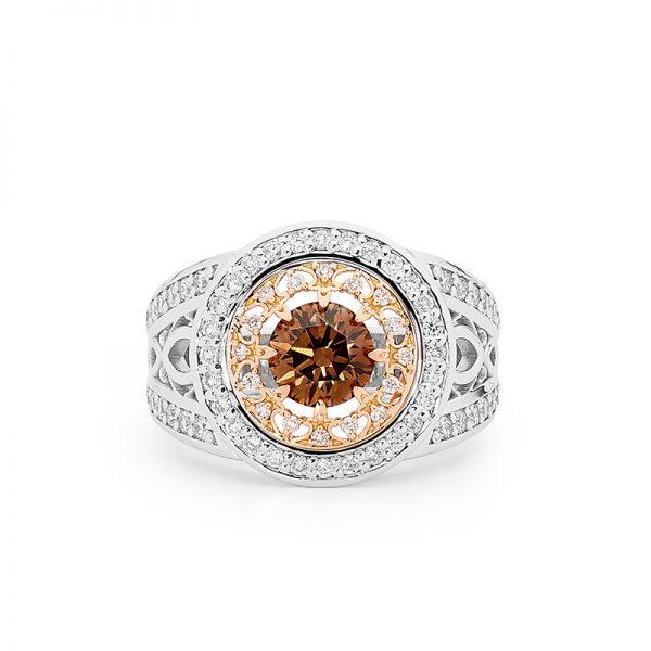 Deco Delight Chocolate Diamond Ring