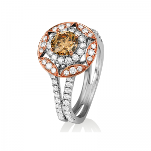 Grand Jete Chocolate Diamond Ring
