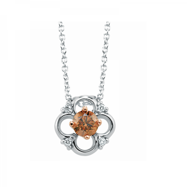 In Bloom Chocolate Diamond Pendant