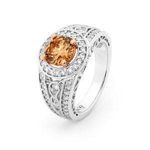 Midnight Fire Chocolate Diamond Ring