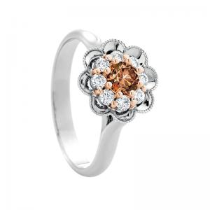 Peony Floral Celebration - Chocolate Diamond Ring