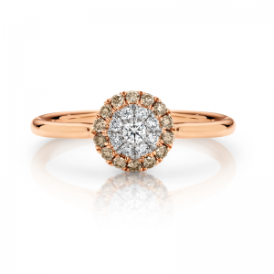 pirouette chocolate diamond ring