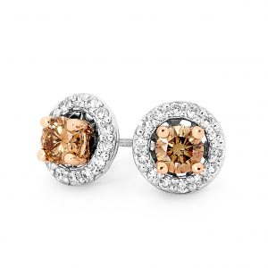 Two Way Halo Chocolate Diamond Earrings